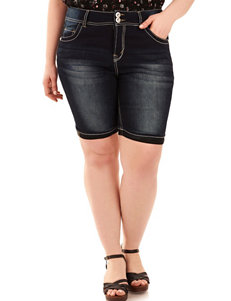 WallFlower Juniors-plus Bling Bermuda Shorts