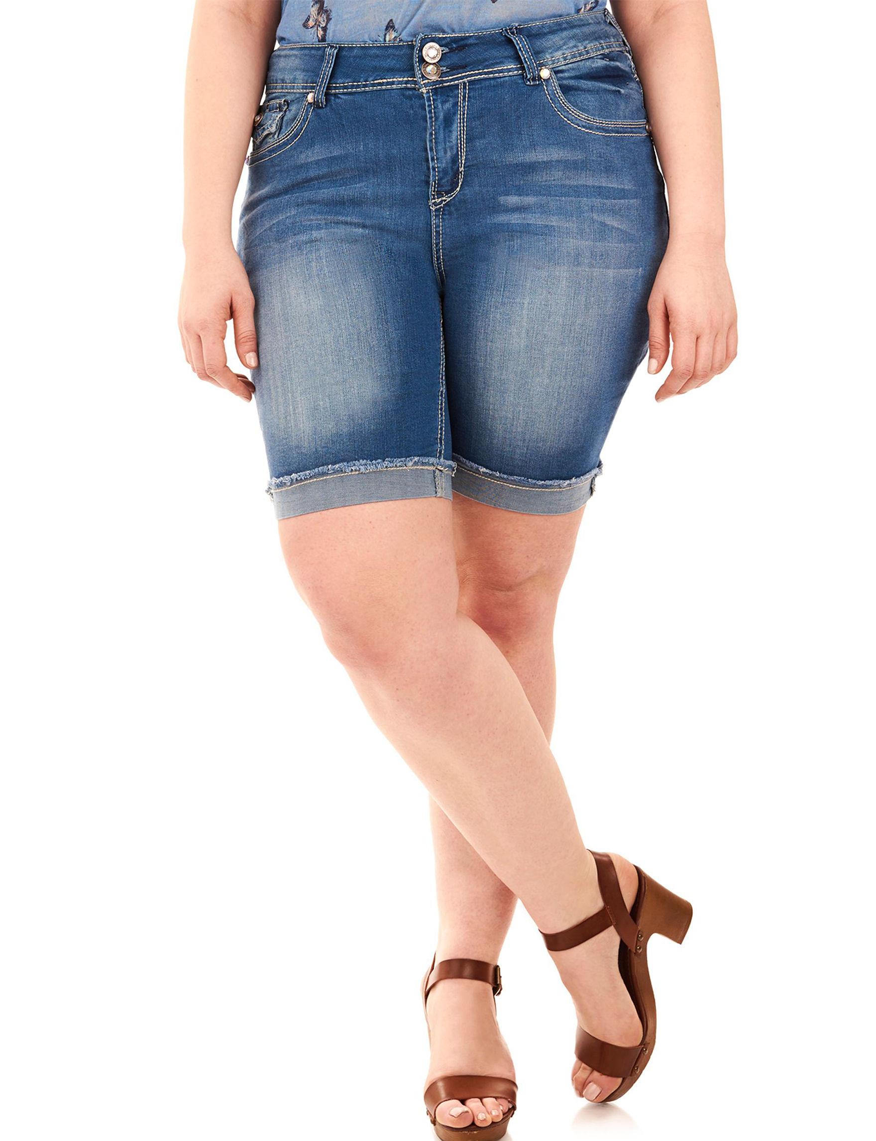 WallFlower Blue Denim Shorts
