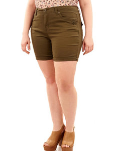WallFlower Olive Denim Shorts