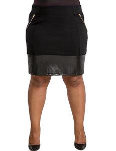 Poetic Justice Juniors-plus Layla Straight Skirt