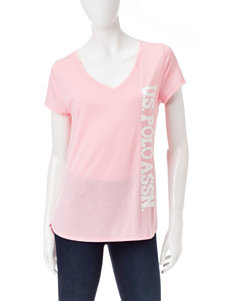 U.S. Polo Assn. Pink Tees & Tanks