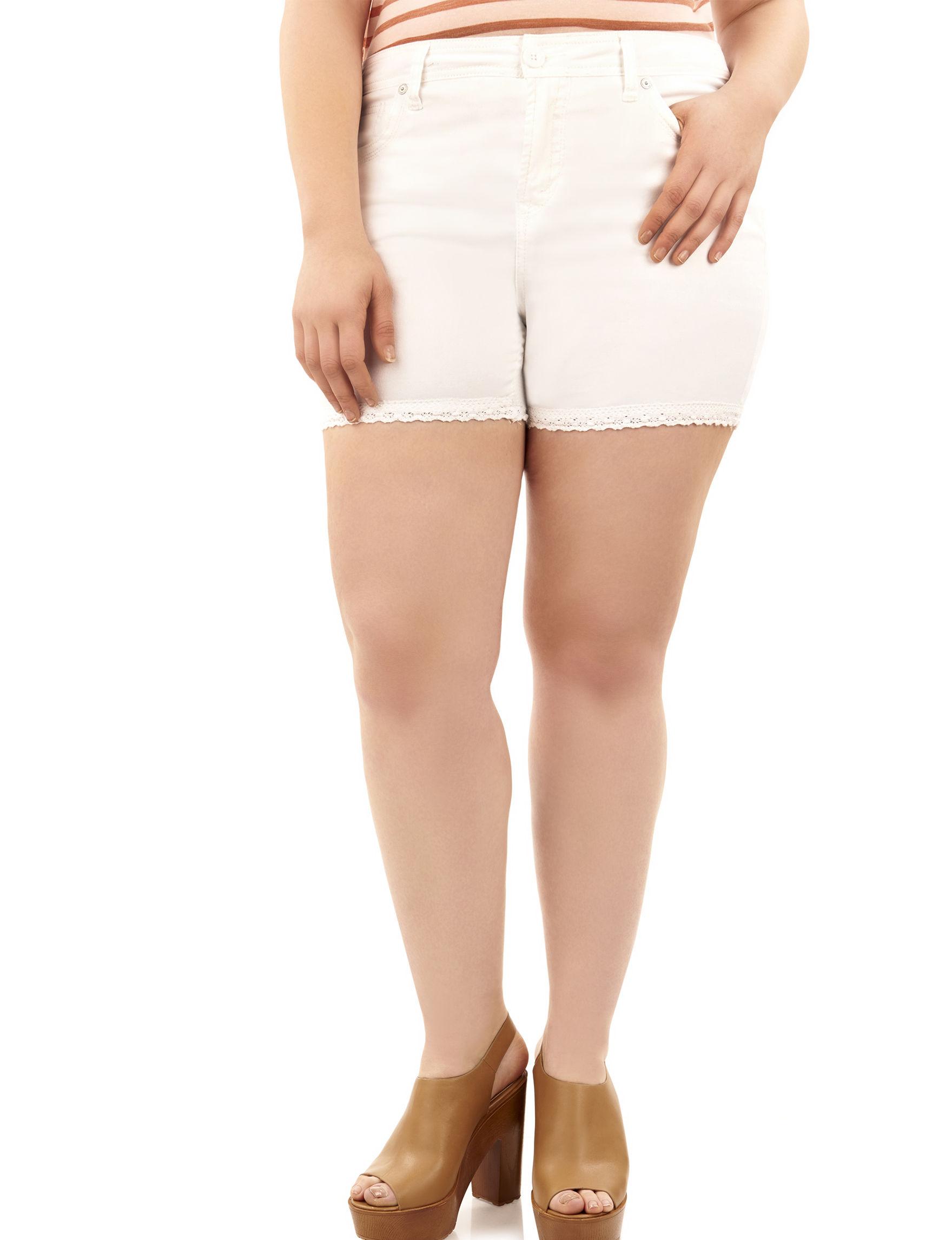 WallFlower White Denim Shorts