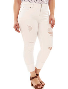 WallFlower Juniors-plus Destructed Skinny Jeans