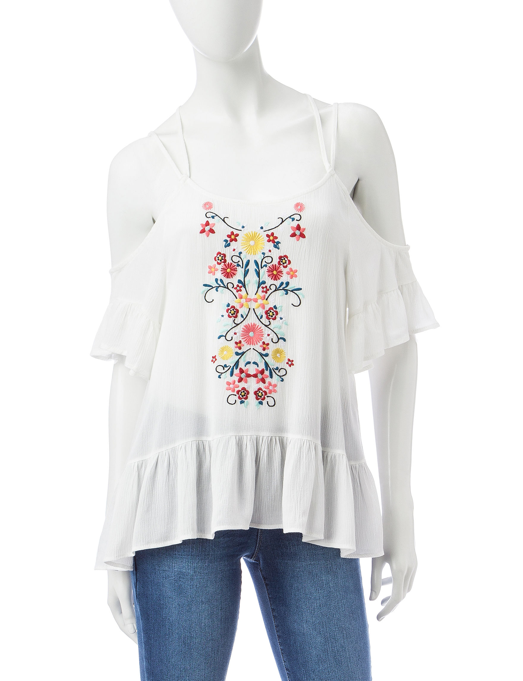 Almost Famous White Shirts & Blouses