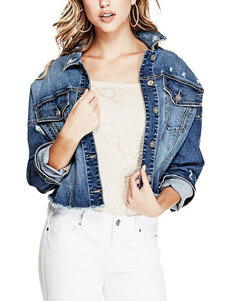 G by Guess Blue Denim Jackets