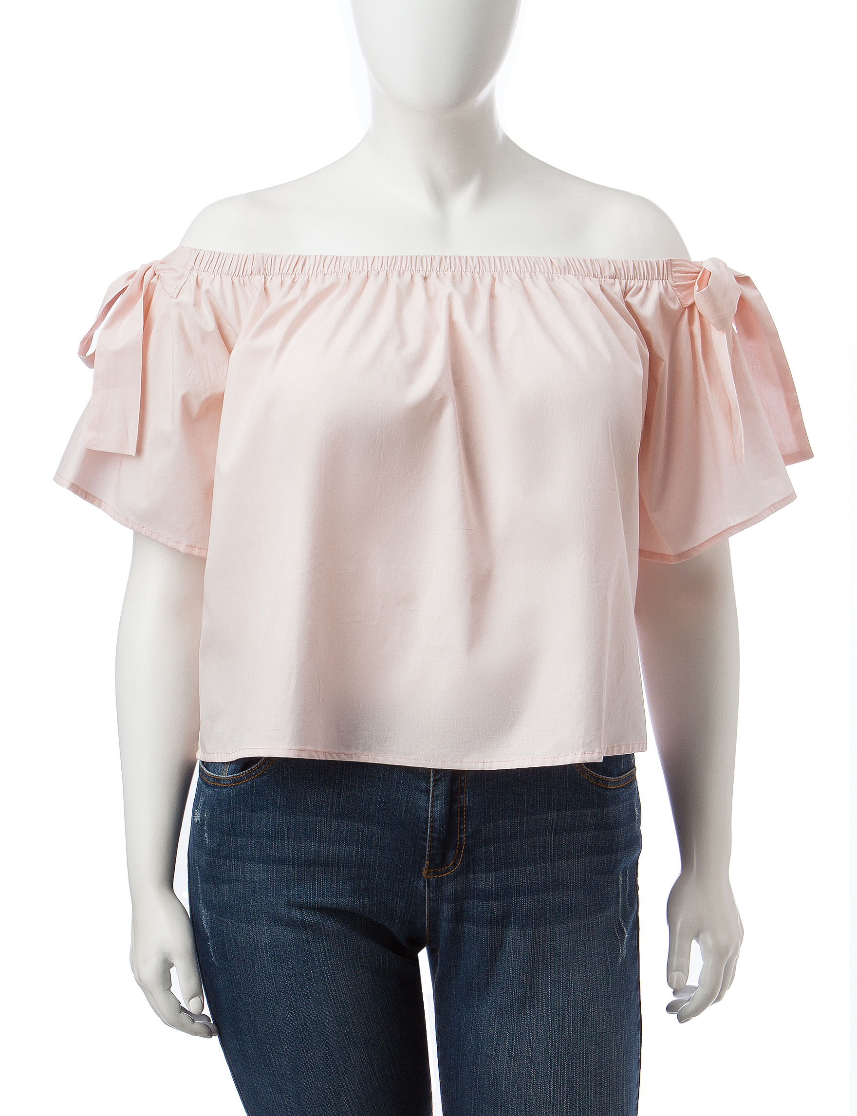 No Comment Pink Shirts & Blouses