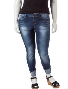 YMI Juniors-plus Cuffed Jeans