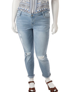 YMI Destructed Cuffed Jeans