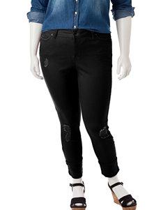 YMI Juniors-plus Destructed Cuffed Jeans