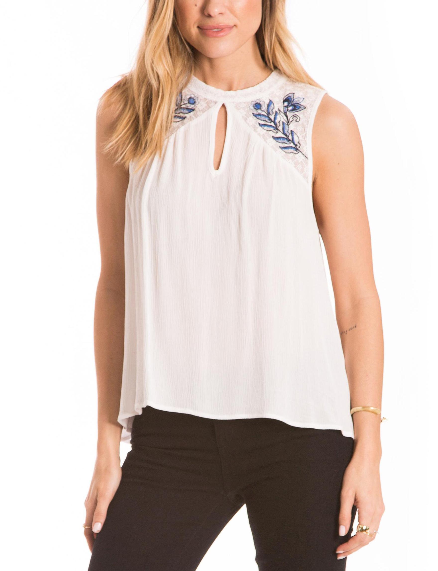 Eyeshadow White Shirts & Blouses Tees & Tanks