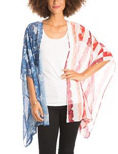 Eyeshadow American Flag Semi-Sheer Kimono