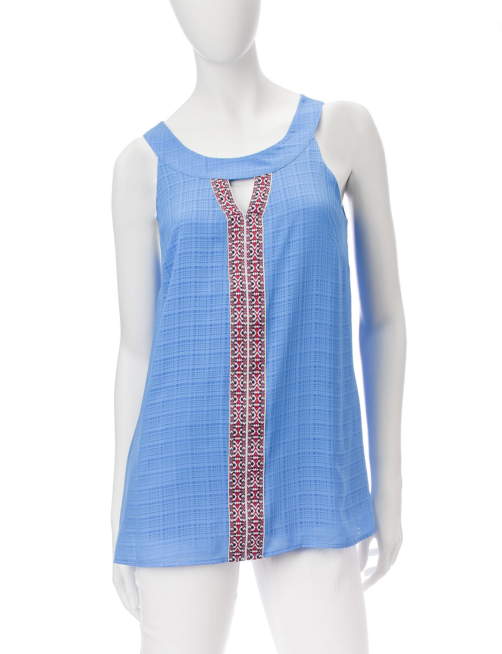 AGB Sky Blue Shirts & Blouses Tees & Tanks