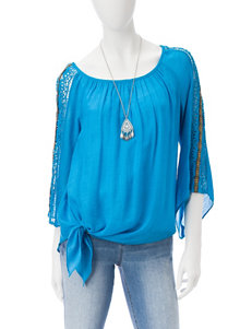 AGB Medium Blue Shirts & Blouses