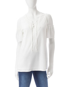 AGB White Shirts & Blouses