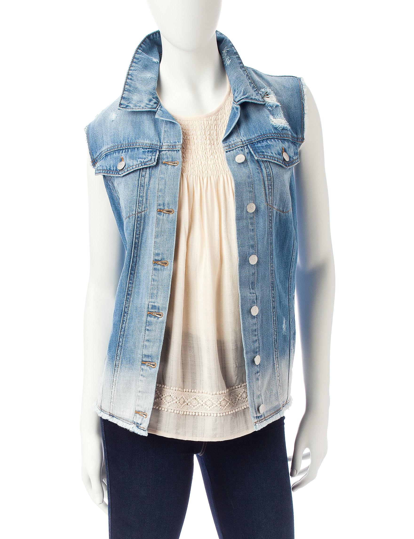 Jessica Simpson Medium Blue Vests