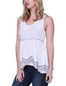 Taylor & Sage White Shirts & Blouses Tees & Tanks