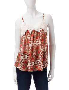 Taylor & Sage Rust Camisoles & Tanks Shirts & Blouses