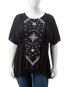 Eyeshadow Juniors-plus Embroidered Top