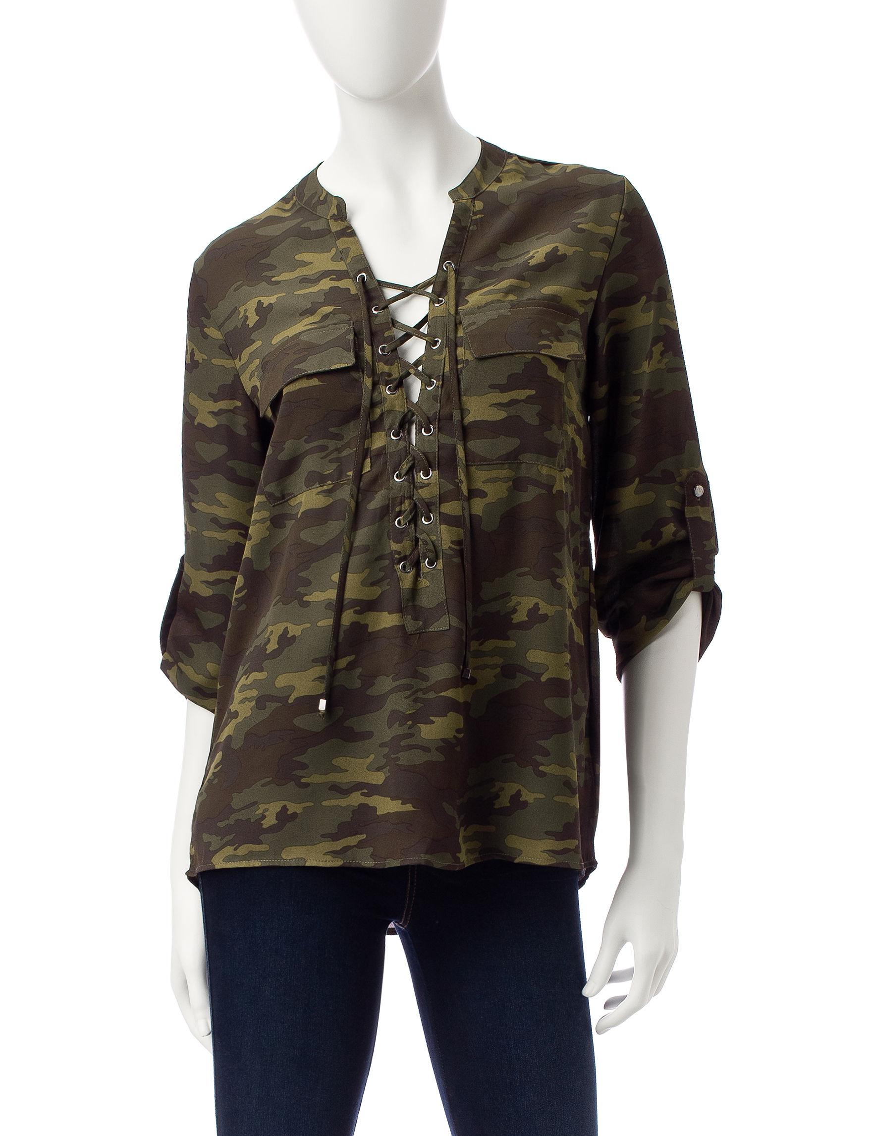 Wishful Park Olive Shirts & Blouses