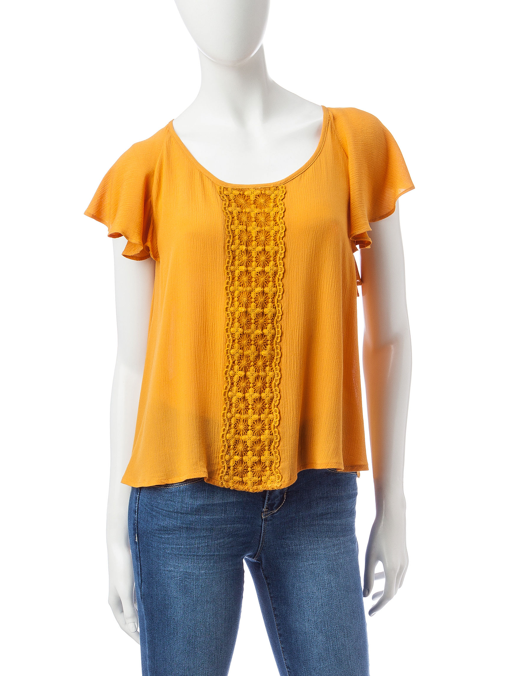 Self Esteem Yellow Shirts & Blouses