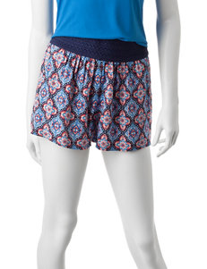 Joe Benbasset Diamond Tile Print Shorts