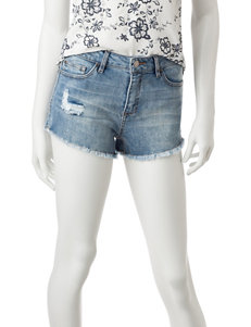 Celebrity Pink High Rise Frayed Denim Shorts