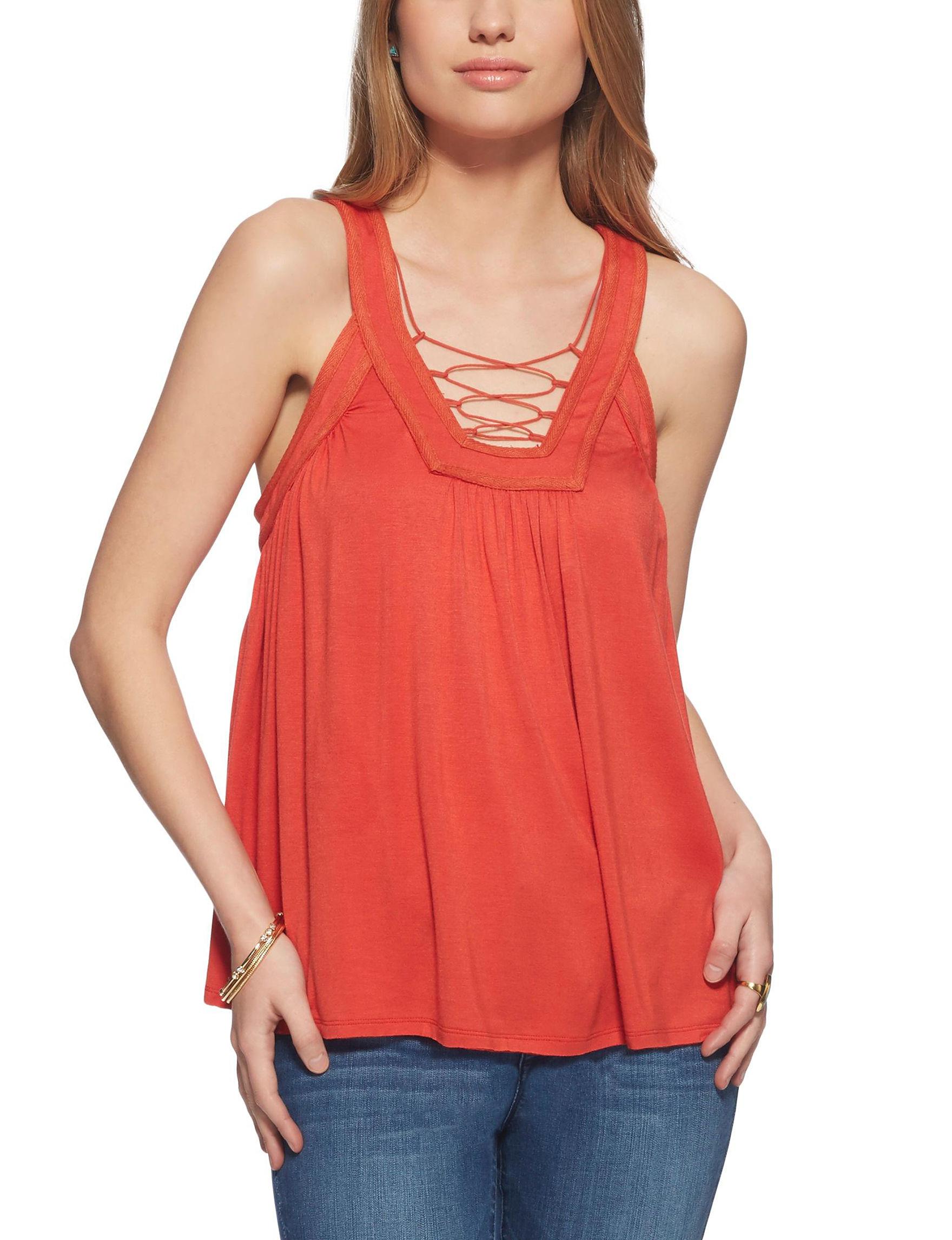 Jessica Simpson Orange Shirts & Blouses