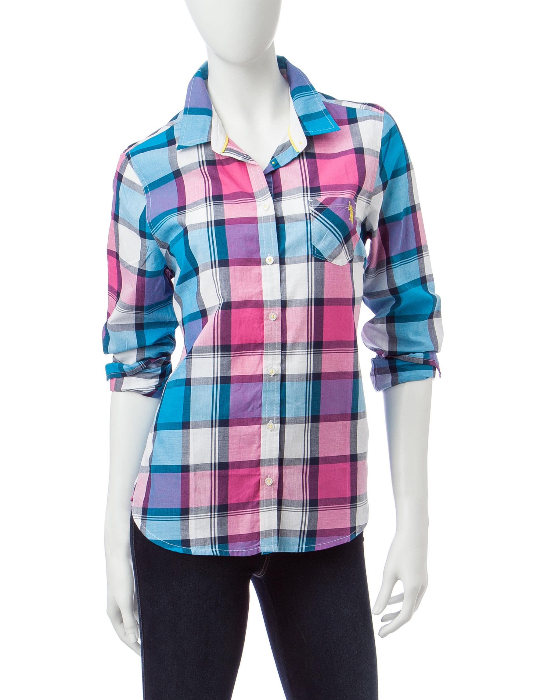 U.S. Polo Assn. Turquoise Shirts & Blouses