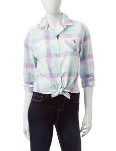 U.S. Polo Assn. Purple Shirts & Blouses