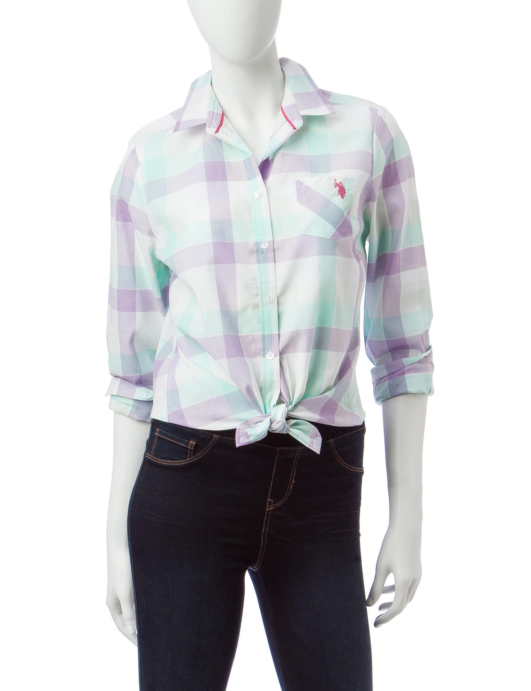 U.S. Polo Assn. Purple Shirts & Blouses