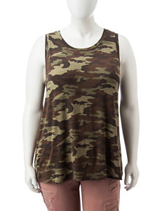 Justify Green Camo Tees & Tanks