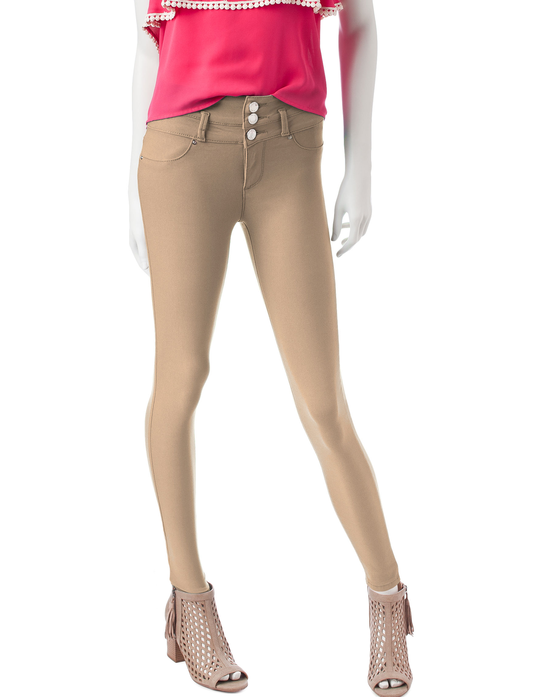 Wishful Park Khaki Skinny Stretch