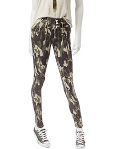 Wishful Park Green Camo Skinny Stretch