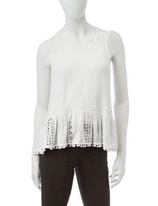 Lily White White Shirts & Blouses Tees & Tanks