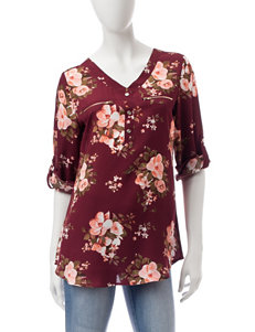 Wishful Park Wine Shirts & Blouses