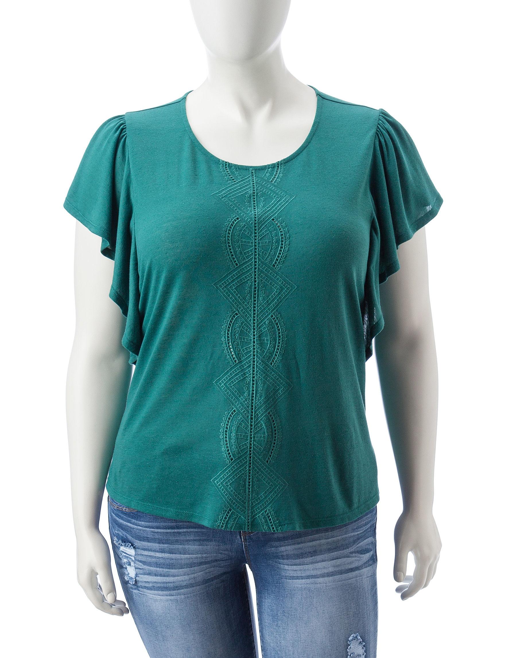 Eyeshadow Aqua Shirts & Blouses
