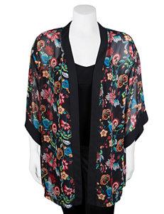 A. Byer Black Kimonos Shirts & Blouses