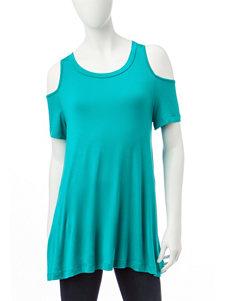 Wishful Park Turquoise / White Shirts & Blouses