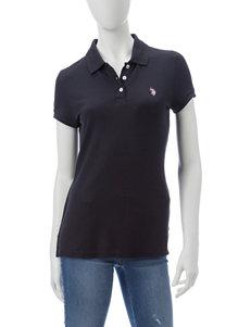 U.S. Polo Assn. Black Polos Shirts & Blouses