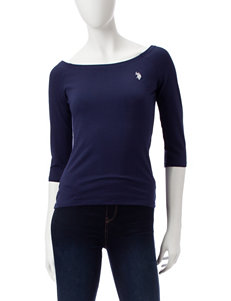 U.S. Polo Assn. Blue Shirts & Blouses