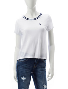 U.S. Polo Assn. White Shirts & Blouses Tees & Tanks