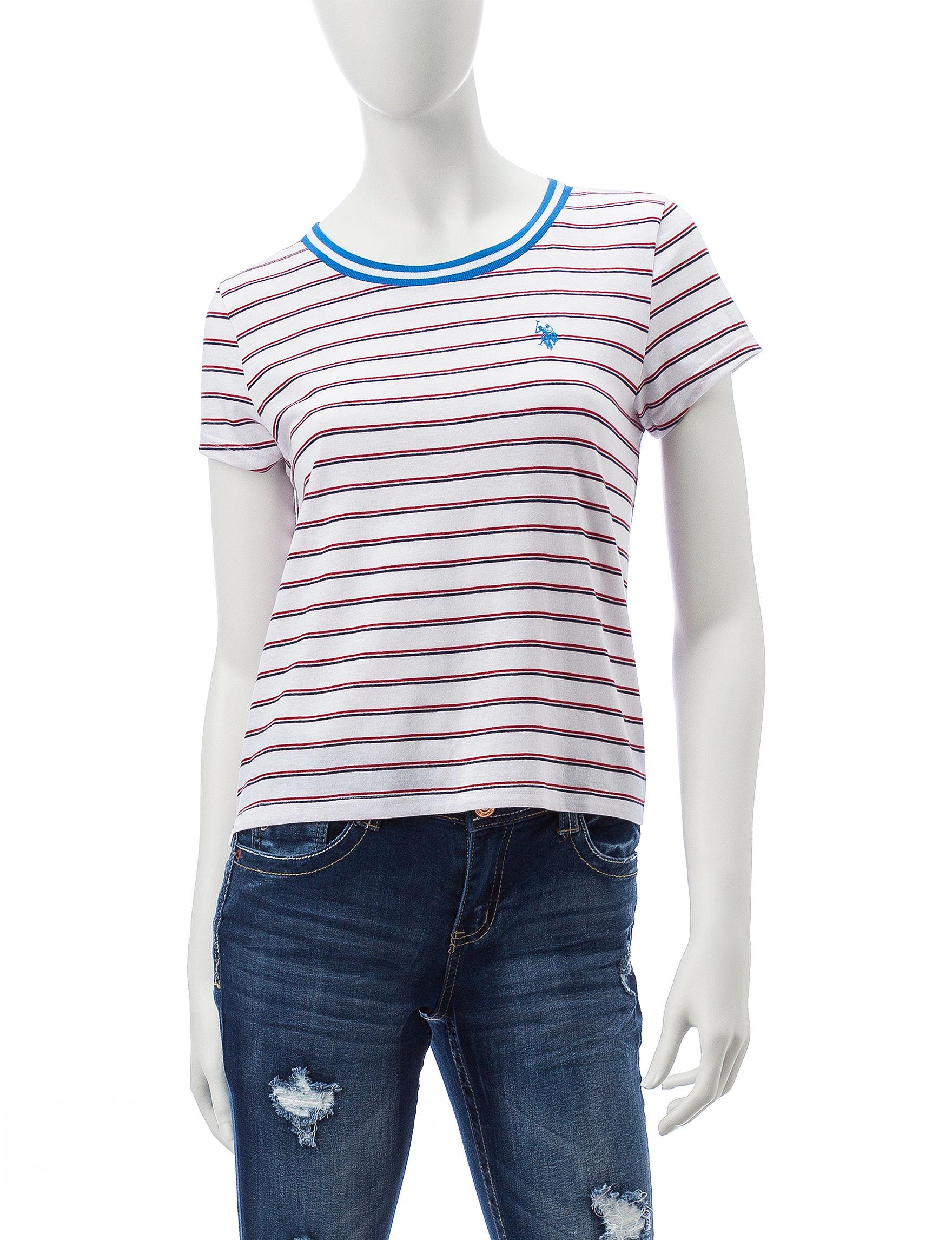 U.S. Polo Assn. White Shirts & Blouses Tees & Tanks