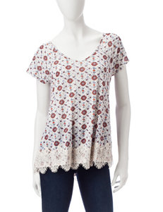 Jolt Oatmeal Heather Shirts & Blouses Tees & Tanks