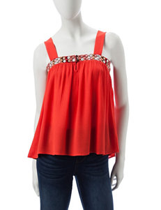 Lily White Coral Camisoles & Tanks Shirts & Blouses Tees & Tanks