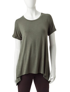 Signature Studio Green Tees & Tanks