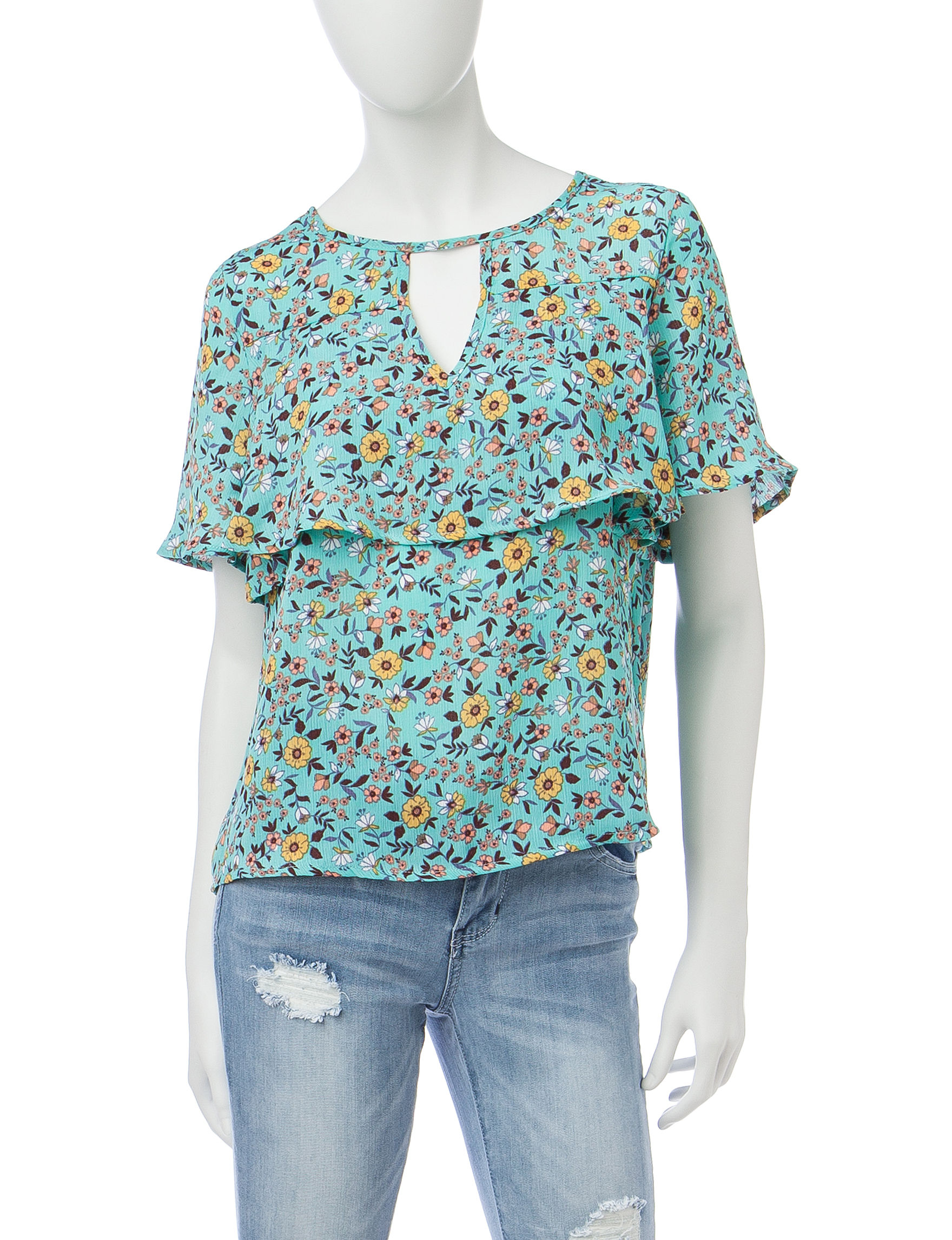 Wishful Park Teal Shirts & Blouses
