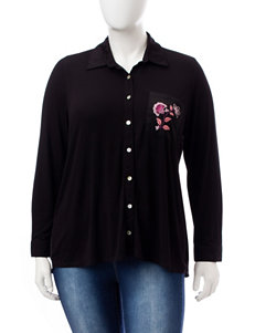 Self Esteem Black Shirts & Blouses