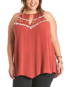 Eyeshadow Red Orange Shirts & Blouses