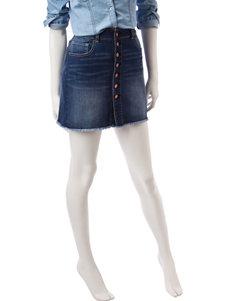 Indigo Rein Frayed Denim Skirt