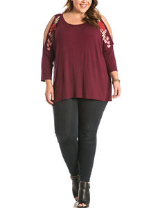 Eyeshadow Burgundy Shirts & Blouses